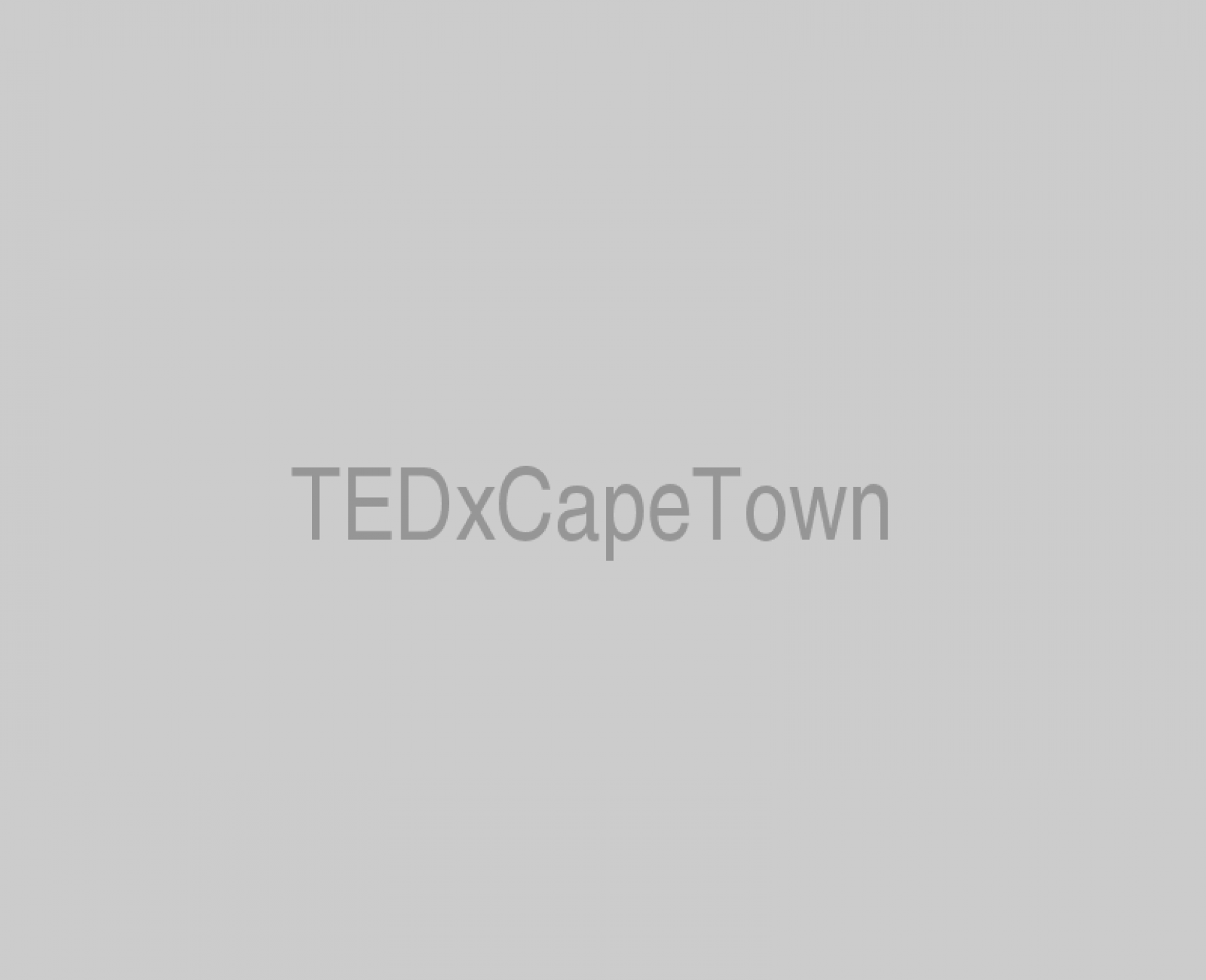 TEDxCapeTown placeholder